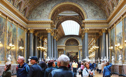 ПАРИЖ, ФРАНЦИЯ - 12-ОЕ СЕНТЯБРЯ 2015: Дворец Версаль Стоковое фото RF