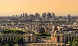 Париж, Франция увиденная от Эйфелева башни Стоковые Фото