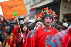 ПАРИЖ, ФРАНЦИЯ - 10-ОЕ ФЕВРАЛЯ: Китайское Новый Год Стоковое фото RF
