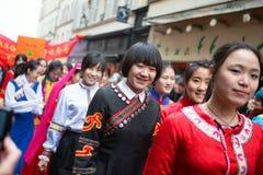 ПАРИЖ, ФРАНЦИЯ - 10-ОЕ ФЕВРАЛЯ: Китайское Новый Год Стоковые Фотографии RF