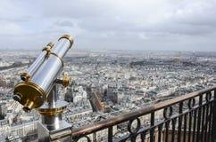 Париж через телескоп стоковое фото rf