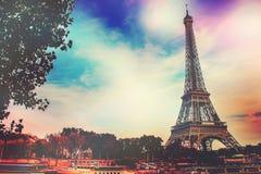Париж, Эйфелева башня Стоковое Изображение