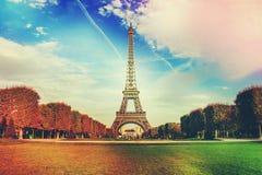 Париж, Эйфелева башня Стоковое Фото