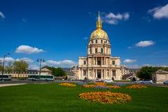 Париж, Les Invalides, известный ориентир ориентир в Франции Стоковые Фотографии RF