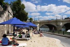 Париж-Plages приставают 2013 к берегу (Франция) Стоковое Фото