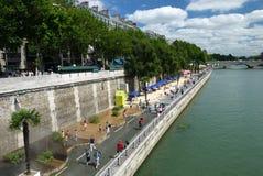 Париж-Plages приставают 2013 к берегу (Франция) Стоковая Фотография