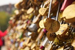 Париж, Pont de Искусство стоковые фото