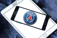 Париж St Germain, логотип клуба футбола PSG Стоковое Изображение