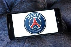 Париж St Germain, логотип клуба футбола PSG Стоковые Изображения