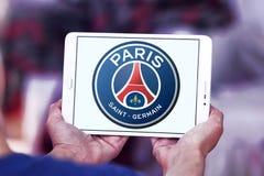 Париж St Germain, логотип клуба футбола PSG Стоковое фото RF