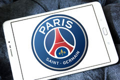 Париж St Germain, логотип клуба футбола PSG Стоковая Фотография