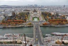 Париж - Trocadero от Эйфелева башни Стоковое Изображение