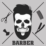 Парикмахерская бороды иллюстрация штока