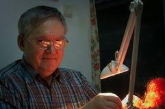 Парик апельсина ремонта старика Стоковая Фотография