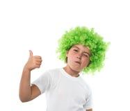 парик девушки зеленый маленький Стоковое Изображение RF