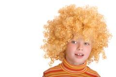 парик курчавого портрета девушки ся стоковое фото rf