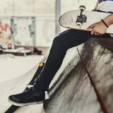 Парка конькобежца спорта скейтборда деятельность при Conce весьма рекреационная Стоковая Фотография RF