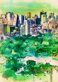 Парки вида с воздуха картины цифров в столице Стоковое Фото