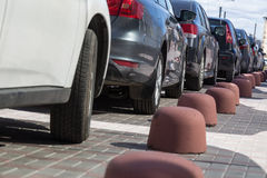 Парковать автомобилей Стоковое фото RF