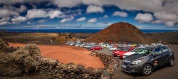 Парковать на Timanfaya стоковое изображение rf