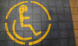 Парковать для с ограниченными возможностями Стоковая Фотография RF