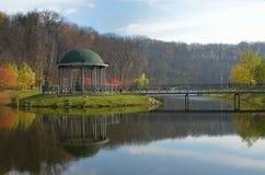 Парк ландшафта в осени Стоковые Фото