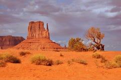 Долина памятника перед дождем Стоковые Фотографии RF