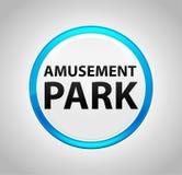 Парк атракционов вокруг голубой кнопки иллюстрация штока