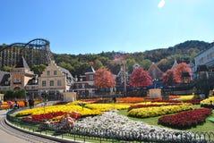 Парк атракционов в Корее Стоковые Фото