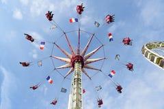 Парк атракционов в Париже городском Стоковое Изображение RF