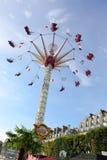 Парк атракционов в Париже городском Стоковая Фотография