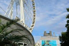 Парк атракционов в Париже городском Стоковое Изображение