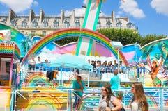 Парк атракционов в Париже Стоковые Фотографии RF