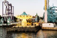 Парк атракционов в Djurgarden, Стокгольме стоковая фотография