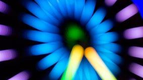 Парк атракционов долгой выдержки ночи Стоковая Фотография RF