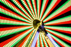 Парк атракционов долгой выдержки ночи Стоковая Фотография