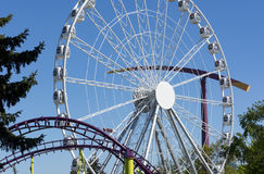 Парк атракционов, езды carousel металла Стоковое фото RF