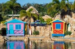 Парк атракционов мира лагуны дельфина на море на Gold Coast Стоковая Фотография