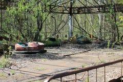 Парк атракционов на Чернобыль Стоковая Фотография