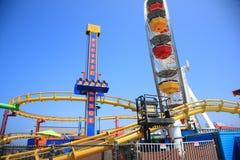 Парк атракционов пристани Санта-Моника Стоковые Фотографии RF