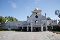 Парк атракционов, современная архитектура Стоковое фото RF