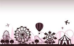 парк атракционов иллюстрация штока