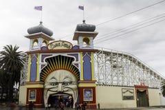 Парк атракционов Luna Park Мельбурн Австралия Стоковое Изображение RF