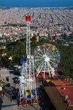 Парк атракционов Tibidabo в Барселоне Стоковая Фотография