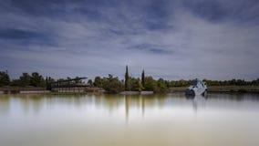 парк бронзового озера мебели старый Стоковые Изображения RF