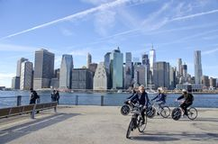 Парк Бруклинского моста стоковое фото