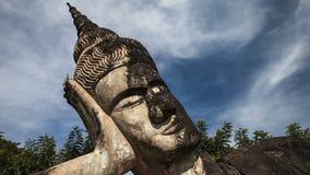 Парк Будды в timelapse Лаоса сток-видео