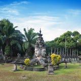 Парк Будды Туристическая достопримечательность и общественный парк в Вьентьян Лаосе стоковые фото