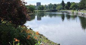 Парк Веллингтона в Simcoe, Онтарио 4K видеоматериал