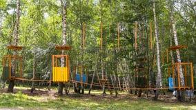 Парк веревочки стоковая фотография